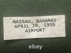 SEAN CONNERY 007! JAMES BOND SIGNED AUTOGRAPH! NASSAU AIRPORT, APRIL 19th 1999