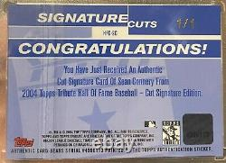 SEAN CONNERY 2004 Topps Tribute HOF Signature Cuts Autograph 1/1 1st Topps AUTO