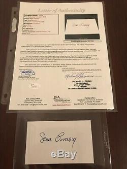 SEAN CONNERY AUTOGRAPHED SIGNED vintage Index card JSA LOA AUTHENTIC James Bond