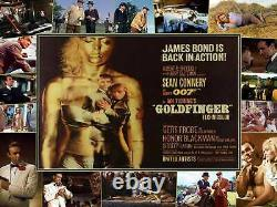 SEAN CONNERY HONOR BLACKMAN SHIRLEY EATON OO7 JAMES BOND GOLDFINGER Signed