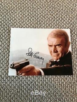 SEAN CONNERY JAMES BOND Never Say Never Signed Autographed 8x10 photo JSA LOA