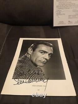 SEAN CONNERY JAMES BOND SIGNED RARE Vintage 9x12 Photo JSA LOA with Dudley Moore