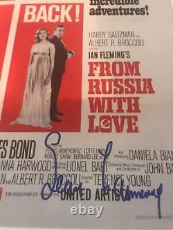 SEAN CONNERY JAMES BOND Signed Autographed From Russia PHOTO 11x14 PSA/DNA 007
