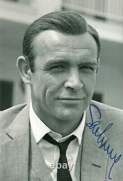 SEAN CONNERY James Bond 007 original autograph signed 8x11 photo top portrait
