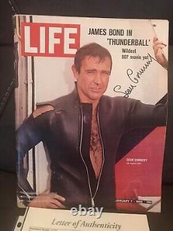 SEAN CONNERY James Bond JSA LOA Signed Autographed THUNDERBALL LIFE Vintage RARE
