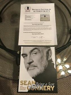 SEAN CONNERY James Bond SIGNED AUTOGRAPHED Book Scot BAS BECKETT LOA AUTHENTIC