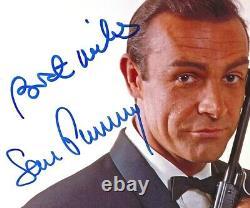SEAN CONNERY Original Autogramm Großfoto James Bond 007 Top Portrait