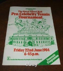 SEAN CONNERY Pro Celeb Tennis Tournament Genuine Signed Autographed Programme