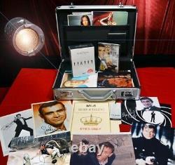 SEAN CONNERY Signed 007, 100 JAMES BOND Autographs, UACC, COA, DVD, Briefcase