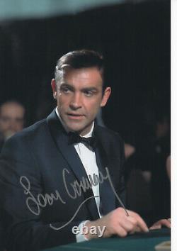 SEAN CONNERY Signed 12x8 Photo JAMES BOND GOLDFINGER & DR NO COA