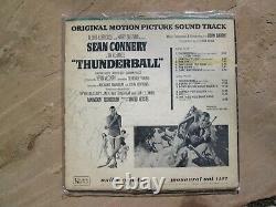 SEAN CONNERY Vintage 007 James Bond THUNDERBALL Autographed Soundtrack LP