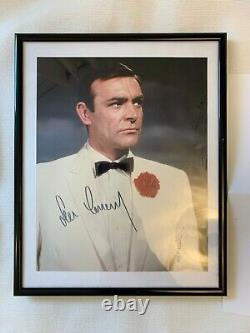 SEAN CONNERY as JAMES BOND 007 in GOLDFINGER Hand signed Colour 8x10 photo COA