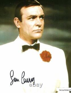 SEAN CONNERY as JAMES BOND 007 in GOLDFINGER Hand signed Colour 8x10 photo COA M