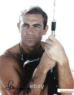SEAN CONNERY as JAMES BOND 007 in GOLDFINGER Hand signed Colour 8x10 photo COA N