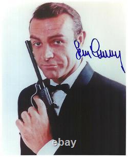 SEAN CONNERY original Autogramm Großfoto James Bond 007 Portrait