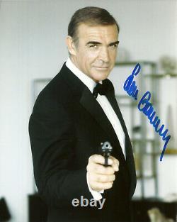 SEAN CONNERY original Autogramm Großfoto James Bond 007 Sag niemals nie + Coa