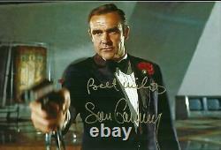 SEAN CONNERY original Autogramm Großfoto Top Portrait James Bond 007 Best wishes