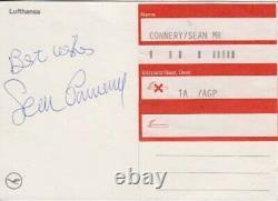 Sean Connery 007 James Bond Authentic Autograph James Bond Gyro Jet Thunderball