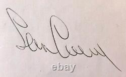 Sean Connery Authentic Vintage Signed Autograph! James Bond 1976 Gleneagles 007