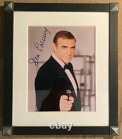 Sean Connery Autograph Signed Auto James Bond 007 Photo Framed COA