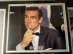 Sean Connery Autograph Signed Cut Auto James Bond Collage Framed JSA Full Letter