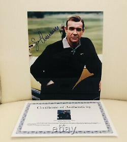 Sean Connery Autographed Hand Signed 8x10 Photo James Bond With Coa Brand New