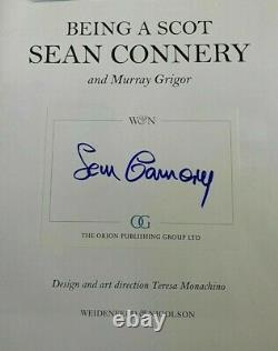 Sean Connery Being A Scot Signed Book Hardcover 1st James Bond 007 Autographed