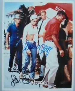 Sean Connery & Claudine Auger orig. Autogramm James Bond 007 Motiv 20x25