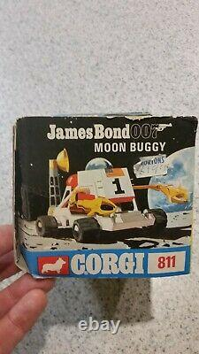Sean Connery Corgi James Bond 007 Diamonds are forever Moon Buggy Die Cast #811
