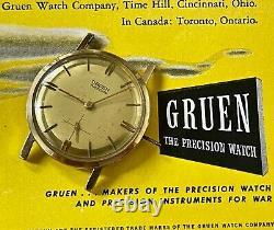 Sean Connery Gruen James Bond 007 vintage 510 watch 1950s for repair/restoration