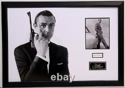 Sean Connery Hand Signed Framed Display James Bond 007