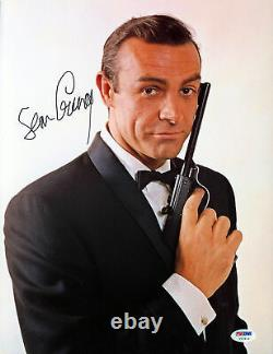 Sean Connery James Bond 007 Authentic Signed 11x14 Photo PSA/DNA #V07819