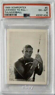 Sean Connery James Bond 007 Licensed To Kill Excellent-MINT (PSA)