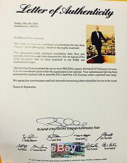 Sean Connery James Bond 007 Signed 8x10 Photo Dr No Goldfinger Gun Psa Dna Coa