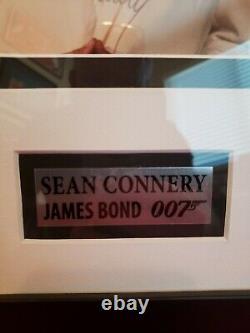 Sean Connery James Bond JSA Certified Autographed Framed Photo