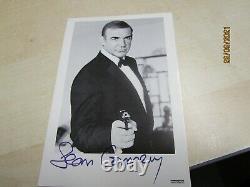 Sean Connery James Bond Sag niemals Nie Karte mit org Autogramm von 1982