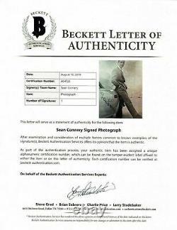 Sean Connery Signed 16X12 Photo JAMES BOND Beckett Authentication FULL LOA (B)