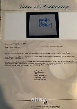 Sean Connery Signed (4X5) James Bond 007 GA (COA)