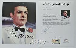 Sean Connery Signed 8x10 James Bond Photo PSA DNA Certified Authentic Autograph