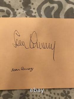 Sean Connery Signed Autograph Book Page AFTAL Independently Authenticated Bond