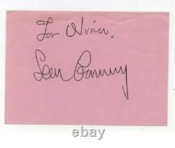 Sean Connery Signed Autograph Book Page AFTAL OnlineCOA