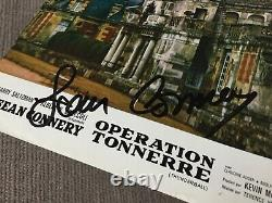 Sean Connery Signed Autographed french Lobby Card THUNDERBALL 1965 COA