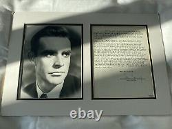 Sean Connery Signed Contract
