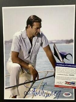Sean Connery Signed Photo 8x10 James Bond Autograph Indiana Jones PSA/DNA Color