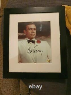 Sean Connery hand signed, framed James Bond 007 with COA
