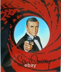 Sean Connery (+) orig. Autogramm JAMES BOND 007 Mot. 20x30 GUNBARRELL