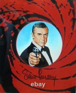 Sean Connery (+) orig. Autogramm James Bond 007 Motiv Gun Barell 20x25