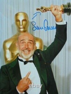 Sean Connery (+) orig. Autogramm James Bond 007 mit Oscar in der Hand 20x25