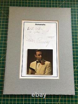Sean Connery signed JAMES BOND 007 autograph RARE vintage signature golf brochur
