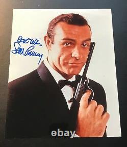 Sean Connery signed JAMES BOND 007 photo 8x10 autograph RARE Goldfinger gun pose